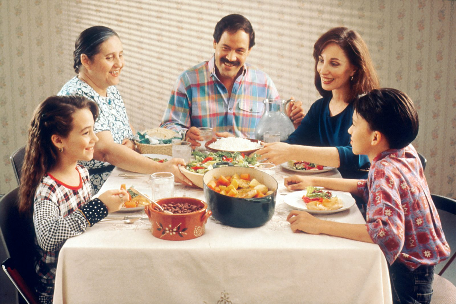 group of person eating indoors